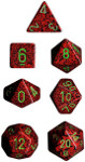Polyhedral 7-Die Set: Speckled - Strawberry