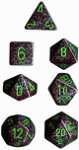 Polyhedral 7-Die Set: Speckled - Earth