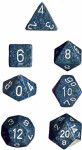 Polyhedral 7-Die Set: Speckled - Sea