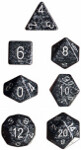 Polyhedral 7-Die Set: Speckled - Ninja