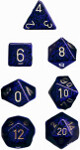 Polyhedral 7-Die Set: Speckled - Golden Cobalt
