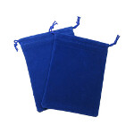 Small Suedecloth Dice Bag - Royal Blue