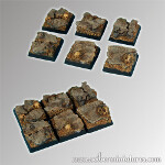 Rocky 20mm square bases (5)