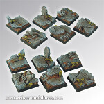 Elven Ruins Square Bases 25mm (5)