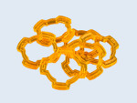 Wound Rings Orange (6)