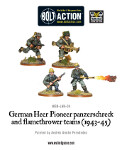 German Heer Pioneer Panzerschreck and Flamethrower teams