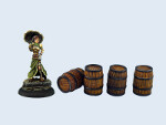 Medium Wooden Barrels (4)