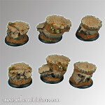 Spartan Ruins 30 mm round edge bases set1