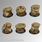Spartan Ruins 30 mm round edge bases set2