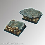 Rocky 40mm set 2 square bases