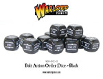 Bolt Action Orders Dice - Black (12)