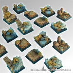 Forest 20mm square bases (5)