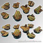 Platforms round bases 25mm set#1 (5)