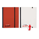4-Pocket Flip Pro Binder - Red & White