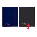 4-Pocket Flip Pro-Binder - Blue & Black