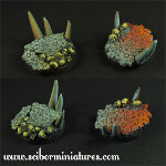 Hell 40mm round bases set 1 (2)