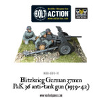 Blitzkreig German 37mm PaK36 anti-tank gun (1939-42)