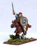 Irish Mounted Warlord with Sword
