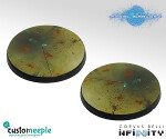 Infinity PanOceanian Base Tops by Giraldez - Plasticard - 40mm