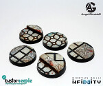 Infinity Military Orders Base Tops by Giraldez - Plasticard - 25mm
