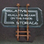 Sign B (Relative Storage) with stand