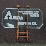 Sign F (Avatar Shipping Co.) with stand