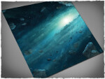 Mousepad games mat, size 3x3, Asteroid Field theme