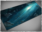 Mousepad games mat, size 3x6, Asteroid Field theme