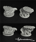 Egyptian Ruins, 40mm round edge bases set 2 (2)