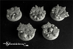Cursed Earth 32 mm round bases set 1 (5)