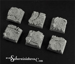 Celtic Ruins 20mm square bases (5)