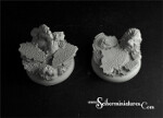 Royal Lions Ruins Round Edge bases 40mm (2) (New Version)