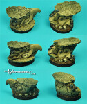 Egyptian Ruins 40 mm round bases set 2 (2) (New Version)