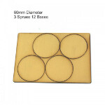 60mm Round Bases: Tan