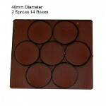 40mm Round Bases: Brown