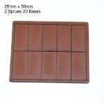 25mm x 50mm Bases: Brown
