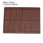 40mm x 20mm Bases: Brown