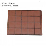 25mm x 25mm Bases: Brown