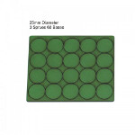 25mm Round Bases: Green