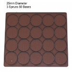 25mm Round Bases: Brown