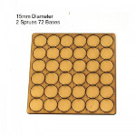15mm Round Bases: Tan