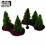 Young Fir Trees & Bases x5