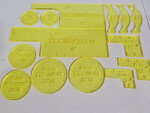 Warmachine Templates (Yellow)