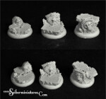 Royal Lions Ruins Round Edge bases 30mm (3) (NEW VERSION)