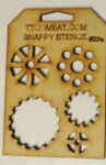 Snappy Stencil: Cogs A
