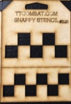 Snappy Stencil: Checkers (Large)