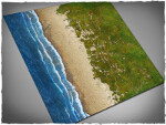 Mousepad games mat, size 4x4, Beach theme