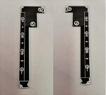 Gaming Rulers - Wave 5 Double Sided - Black