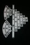 Gaming Rulers - Set - Black Sun