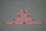Gaming Rulers - Short Range - Imperial Pink